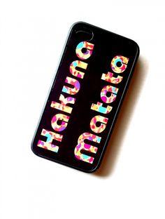 Hakuna Matata iPhone 4 iPhone 4S Case Decorative Black Rubber Case Priority Shipping