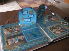 pop-up scrapbook page with something extra