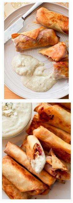 Buffalo CHICKEN EGG ROLLS | Homemade Food Recipes