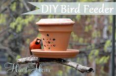 bird feeder from a flower pot