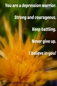 Never give up. #depression #recovery