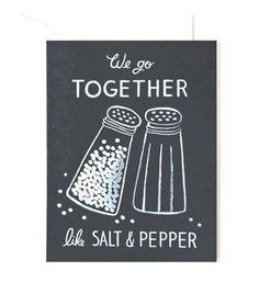 Salt & Pepper Note Card Set