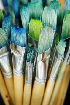 Paint brushes! On a slightly deeper note, it's amazing to think that the work of art has a permanent impact on the very instrument that creates it  :)