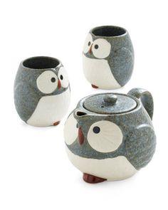 Owl Warm and Cozy Tea Set / ModCloth
