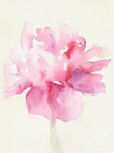 Pretty watercolor flower.