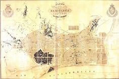 Plano de los arededores de Barcelona y proyecto de su reforma y ensanche - Pla Cerdà.