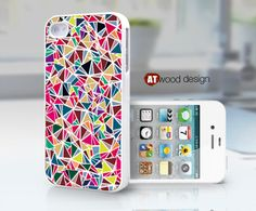 iphone 4 cases iphone 4s case iphone 4 cover classic colorized pink blue pattern design. $13.99, via Etsy.