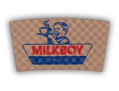 Milkboy Coffee custom printed Java Jacket™ coffee sleeve.