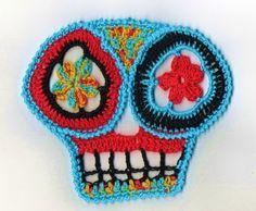 Day of the Dead Skull applique