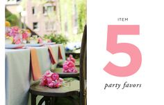 How to Style a Wedding Table // Styling by Anne Book // Item Five: Party Favors