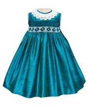 Girls Silk Turquoise Dress    http://www.carouselwear.com/Girls-Silk-Turquoise-Dress.html