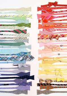 Love these colorful bow ties for the groom and other guys in the wedding!