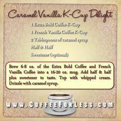 A delicious recipe for a tasty treat you can make with your Keurig Brewer.