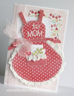 christmas cards, apron cards, christmas time, scrapbook layouts, baking cookies