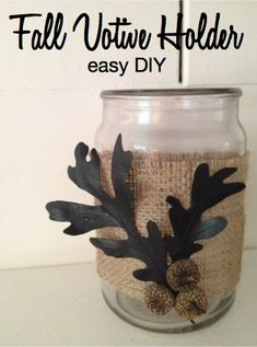 Fall Votive Holder Easy DIY project