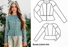 Burda-2-2014-#115-cap-sleeved-peplum-jacket