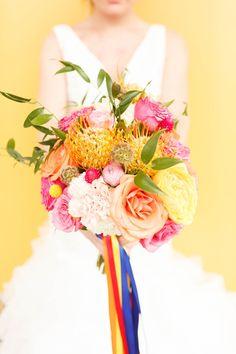 Gorgeous colorful bouquet!!  #weddingbouquet #bouquet