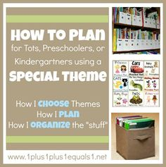 Planning for homeschool using themes {tots, preschool, kindergarten}