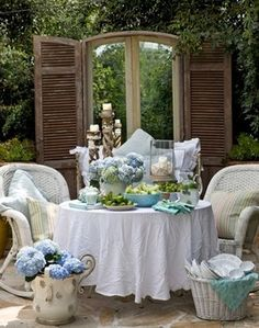 Cottage Patio Party traditional patio #outdoor #garden