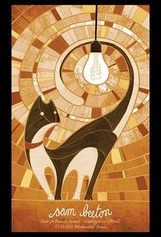 GigPoster  Gorgeous spiral cat poster. Follow me for more awesome