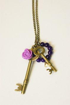 Alice in wonderland key charm- I need this!