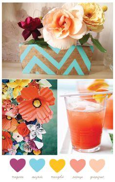 Cinco de Mayo Color Palette: Magenta, Surfside, Marigold, Papaya, Grapefruit