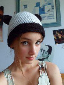 Panda Hat! ^ ^ free crochet pattern