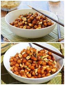 Kung Pao Chickpeas {Vegan}