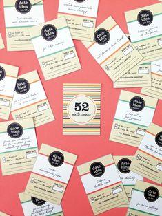 DIY 52 Date Ideas Card Deck - Free printable!!