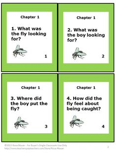 """Hi! Fly Guy : These 24 reading comprehension task cards correspond with """"Hi! Fly Guy"""" by Tedd Arnold. The simple questions will guide students through the story. Students may write short responses on the provided sheet or use their own paper for longer answers. An answer key is provided for the teacher."""