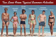 computer programming, computers, funny pics, tans, funni, tan lines, summer activities, tennis, summer solstice