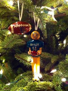 Already got one of our Christmas wishes -- a Big 12 title! #SicEm (ornaments via mollhamm on Twitter) #Baylor