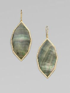 IPPOLITA 18K Gold Diamond Accented Earrings
