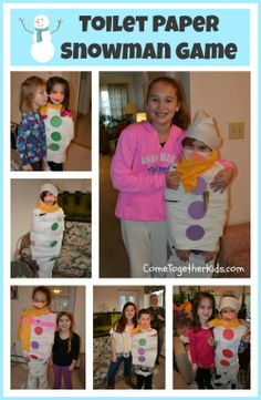 Come Together Kids: Toilet Paper Snowman Game