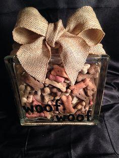 dog bones, diy gifts dog lovers, dog craft, close gift, glass block