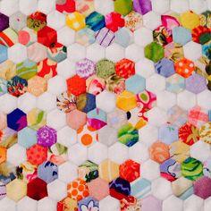 color, hexi quilt, bright cheeri, mini hexi, minis