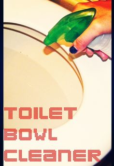 DIY/Home-Made Toilet Bowl Cleaner! This is the EASIEST recipe you'll ever try! Only requires TWO ingredients! #greencleaning #diyconfessions