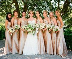 Champagne bridesmaid dresses.   Repin by Inweddingdress.com  #bridesmaid