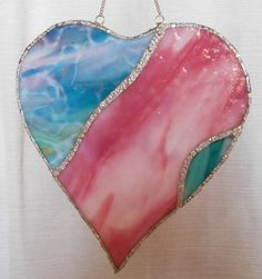 Valentines Day Heart Stained Glass Heart by HummingawaysGlassArt, $30.00