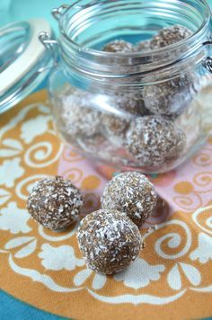 Coconut Protein Bites: No-Bake, easy to make with simple ingredients and a perfect whole-food snack! Nut-free, gluten-free, vegan.