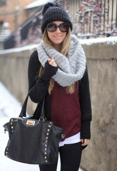 Cute outfit, but that flimsy little cardigan won't stand a chance against a Cleveland wind chill