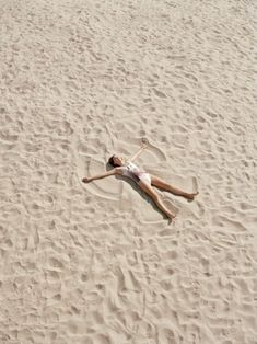 why not...make a sand angel?
