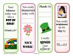 Have your students been working hard?  Here's a free download of four March-themed reward bookmarks that you can present to your students for their efforts.  Thank them for their hard work while promoting reading at the same time.