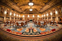 This is the Crystal Ballroom -- the original home of the Academy Awards -- in the historic Millennium Biltmore Hotel in downtown Los Angeles