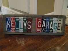 For RM's dad. Made to Order License Plate Signs- Personalized Dad- Fathers- Custom - You Design -  Vintage License Plates. $69.00, via Etsy.