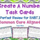 This purchase contains 20 task cards, where students will create numbers using their place value knowledge. These task cards cover the common core ...
