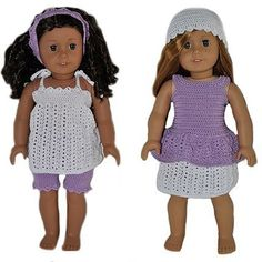PDF Crochet Pattern - 18 inch AG Doll Spring Outfits 1. $5.50, via Etsy.