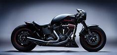 Harley FXSTP Softtail Cafe with Suzuki Front End