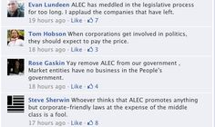 """ALEC has meddled in the legislative process for too long."""
