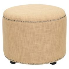 Check out this item at One Kings Lane! Claremont Ottoman, Golden Barley